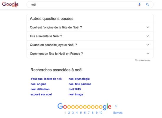 recherches associees google