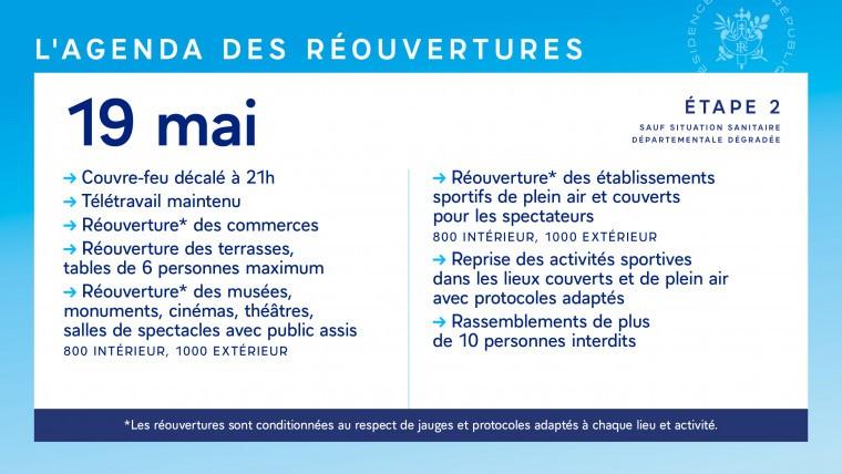 Agenda 19 mai etape 2