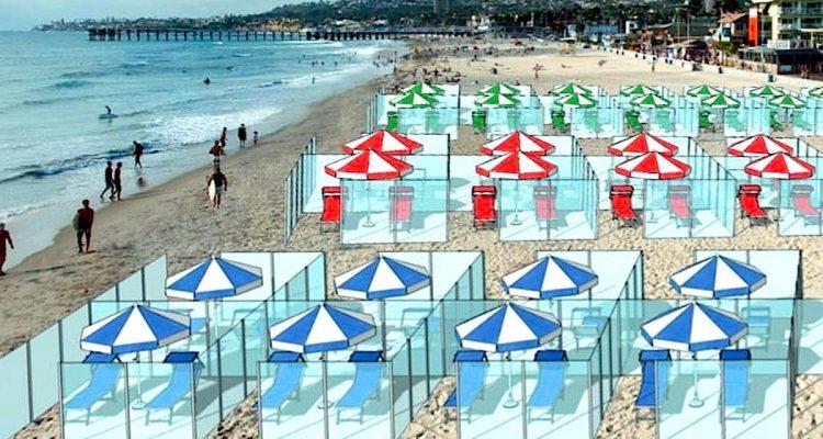 box plexiglas plages italie