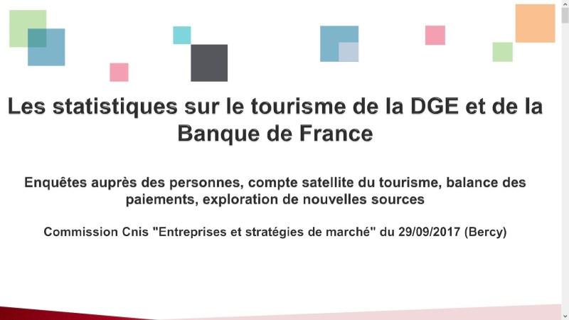 statistiques banque de france DGE tourisme