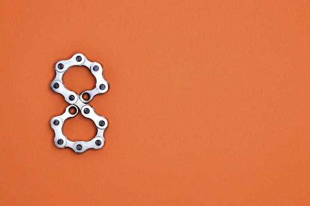8 in bike chain