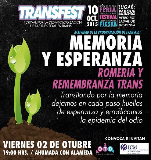 Romería y remembranza trans. 2 de octubre