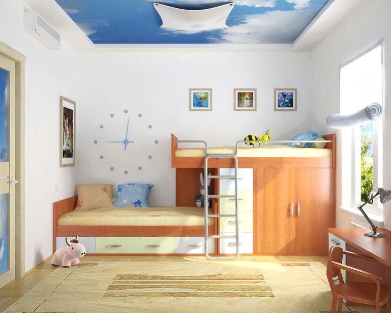 детская комната с чистой и ровной поверхностью стен