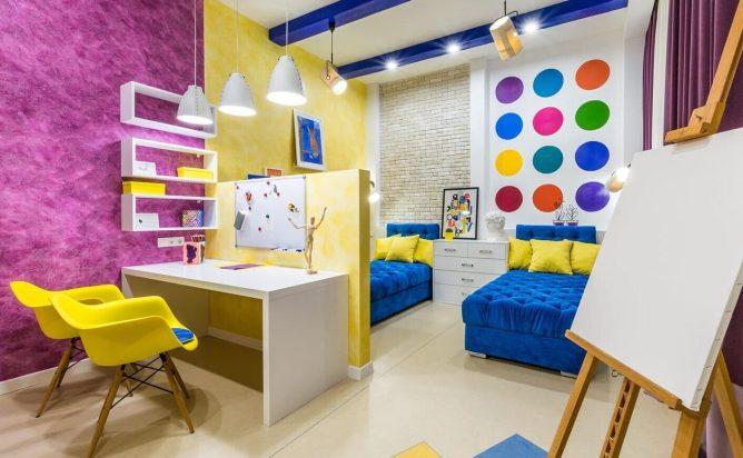 детская комната в с индивидуальным освещением