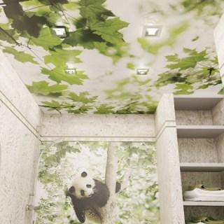 Панели ПВХ PANDA «Листья» — Потолочная панель