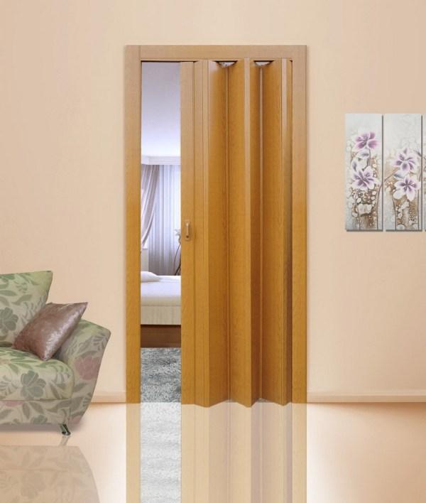 Дверь-гармошка Стиль «Миланский орех»