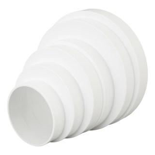 Переходник круглый Equation D80/100/120/125/150/160 мм, пластик