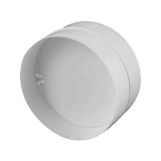 Соединитель круглых каналов с обратным клапаном