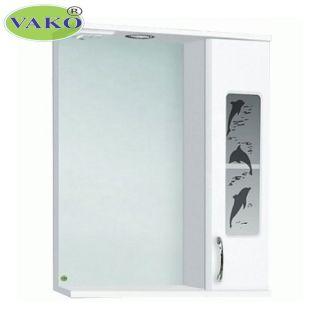 Шкаф зеркальный правосторонний «Панда Дельфин» с подсветкой