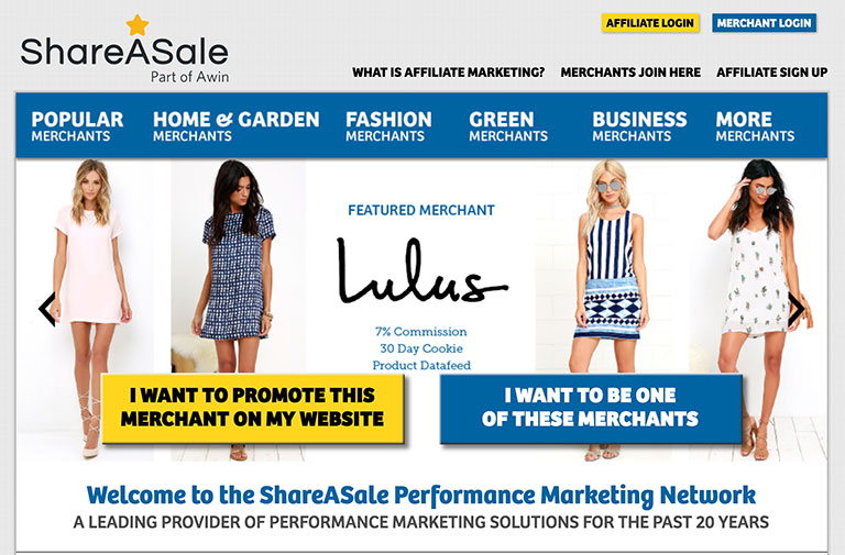 shareasale affiliate programs