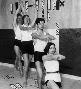 Занятия по системе нотации Рудольфа фон Лабана в школе танца Мэри Вигман, Германия, 1931