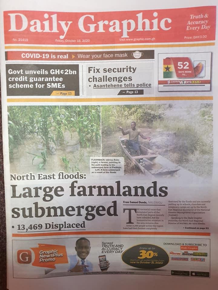 Newspaper headlines of Friday, October 16, 2020 92