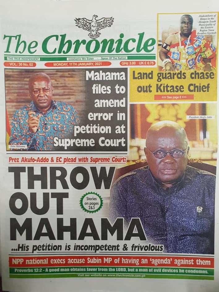 Newspaper headlines of Monday, January 11, 2021 74
