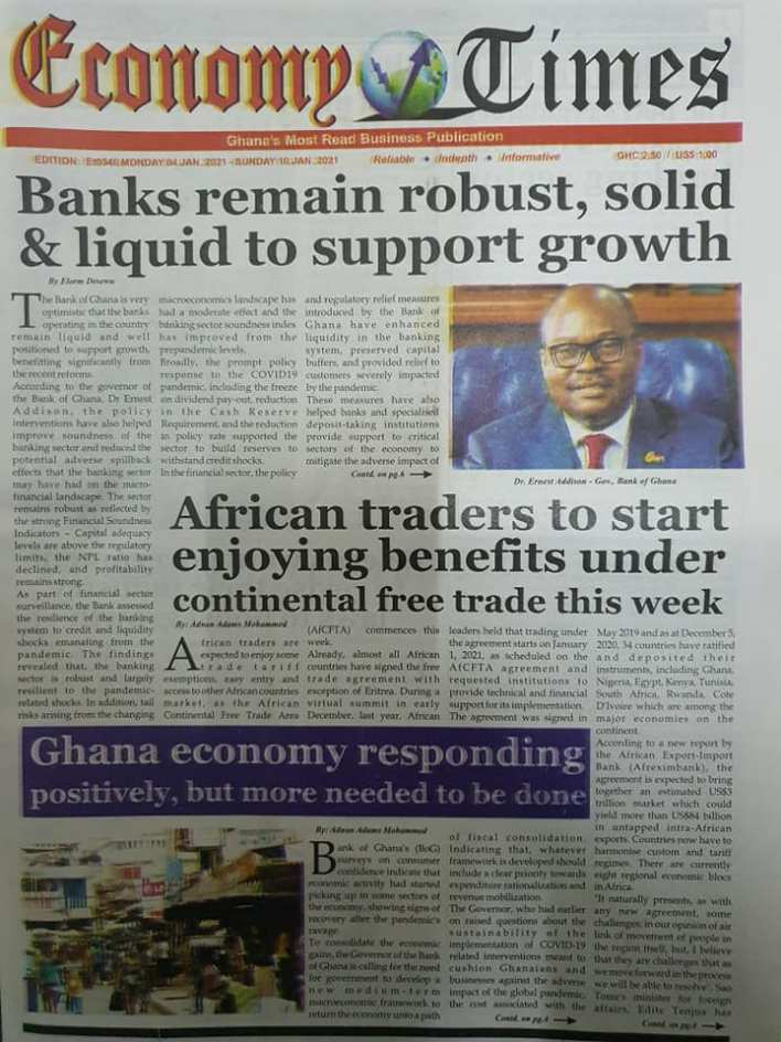 Newspaper Headlines of Tuesday, 5 January 2021 14