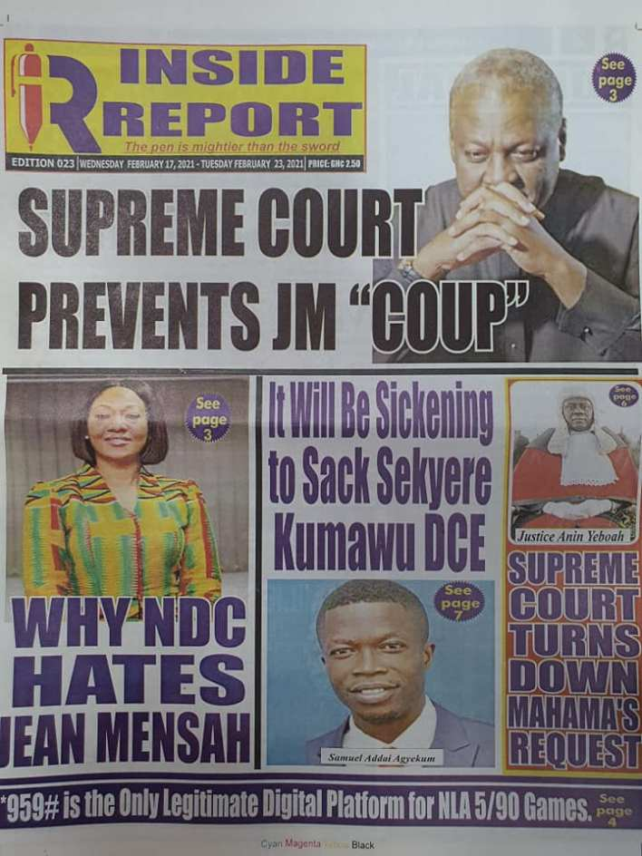 Newspaper headlines of Wednesday, February 17, 2021 88