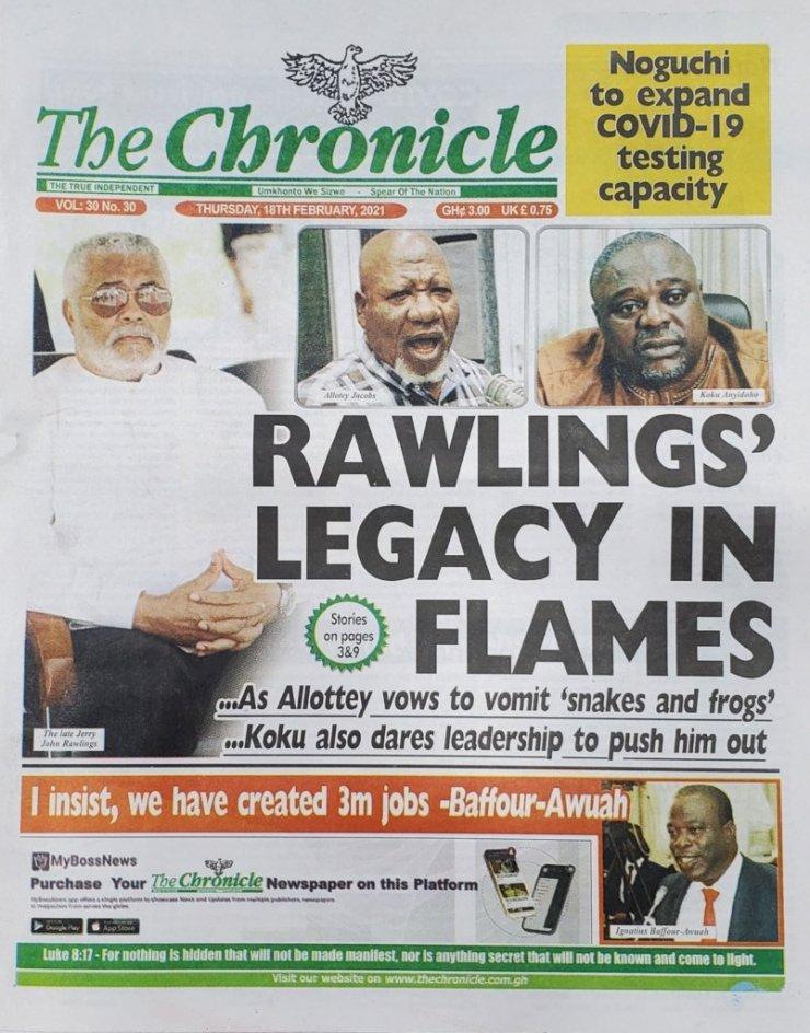 Newspaper headlines of Thursday, February 18, 2021 40
