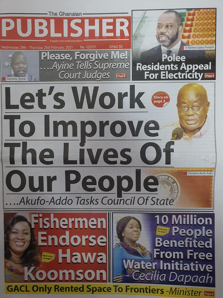 Newspaper headlines of Wednesday, February 24, 2021 97