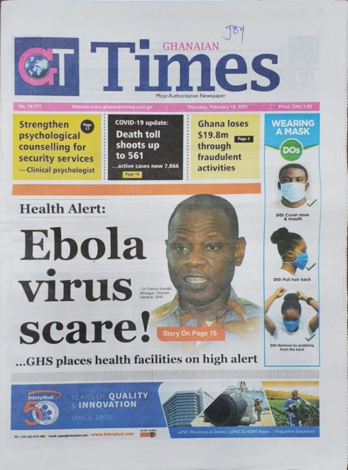 Newspaper headlines of Thursday, February 18, 2021 34