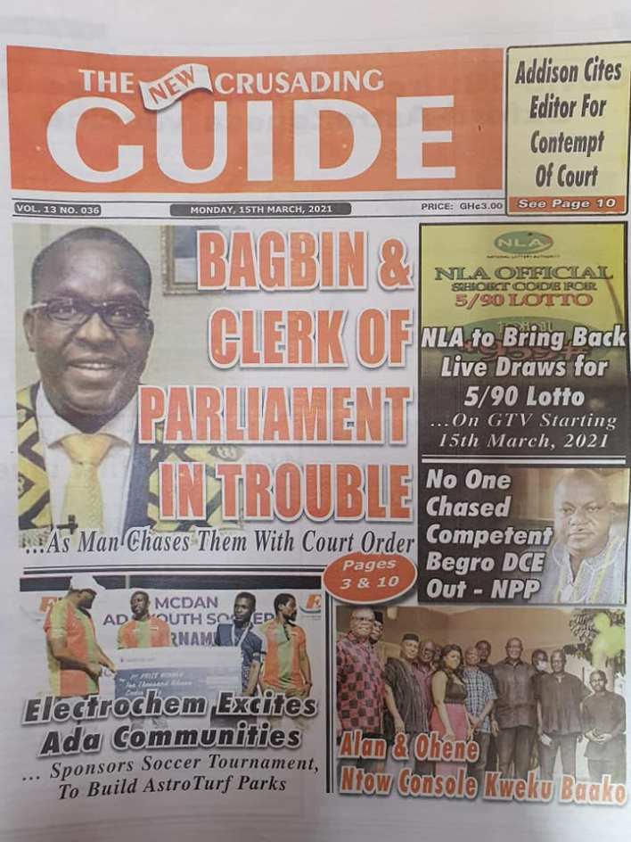 Newspaper Headlines of Monday, March 15, 2021 122