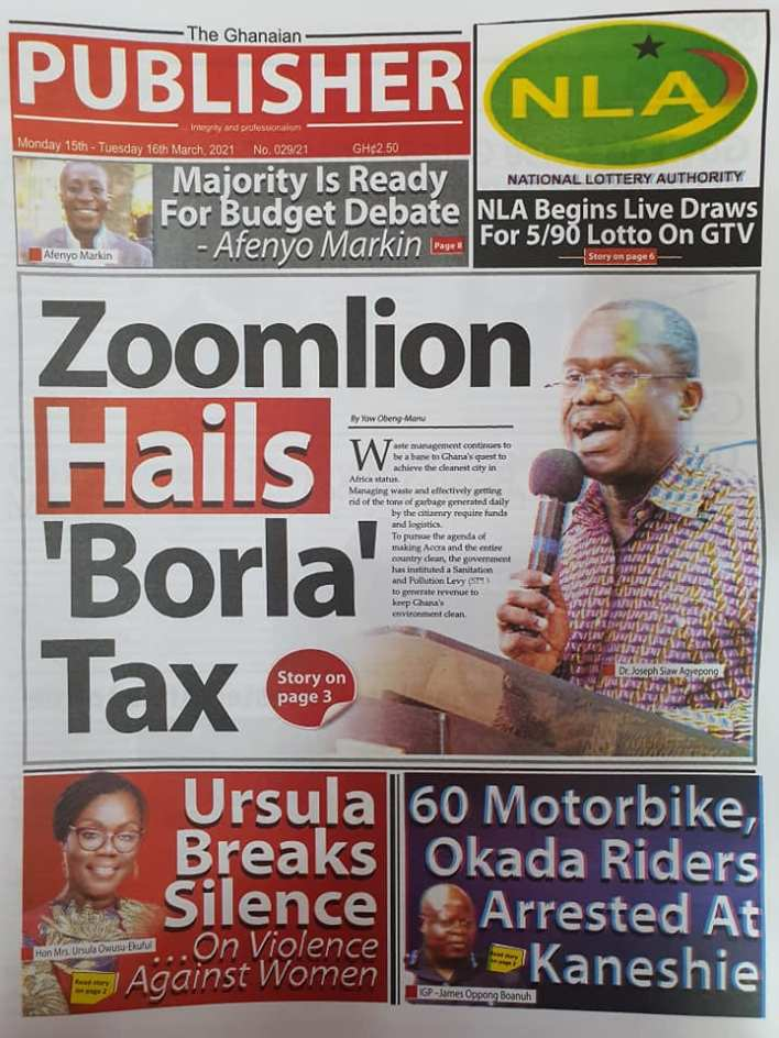 Newspaper Headlines of Monday, March 15, 2021 106