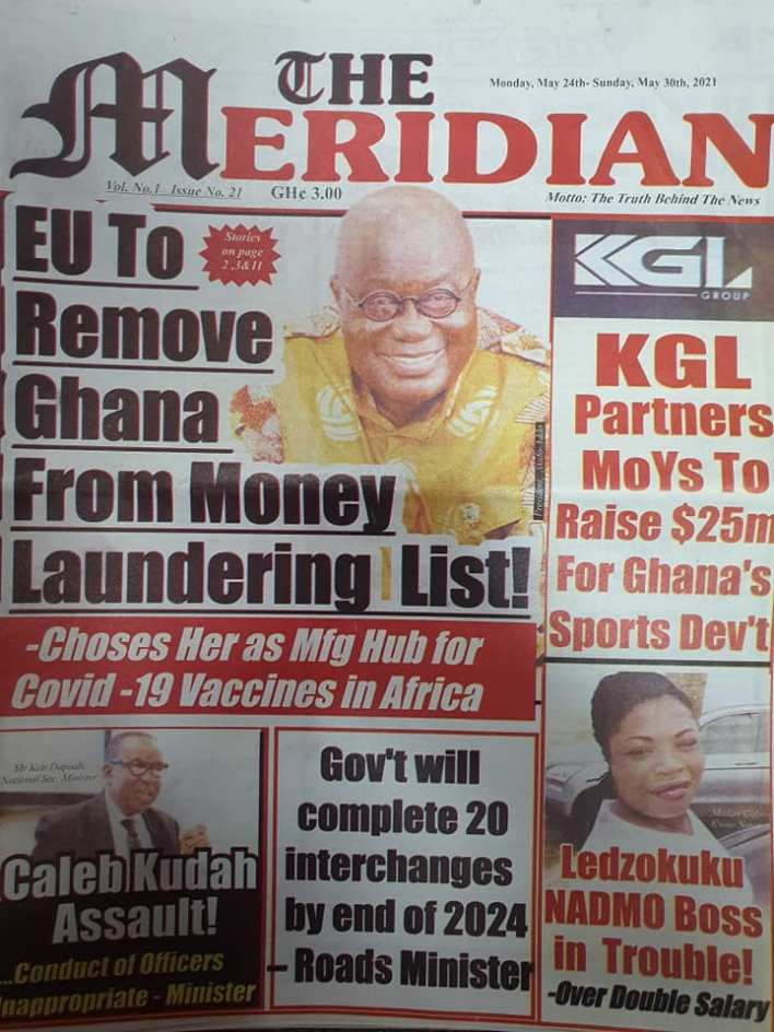 Today's Newspaper headlines: Monday, May 24th ,2021 23