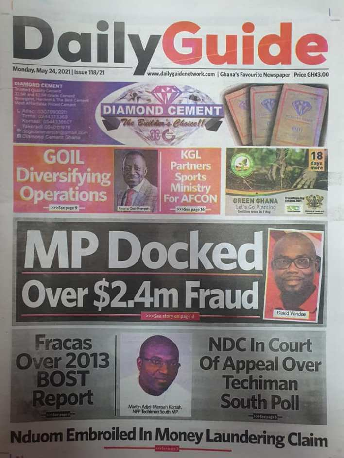 Today's Newspaper headlines: Monday, May 24th ,2021 4