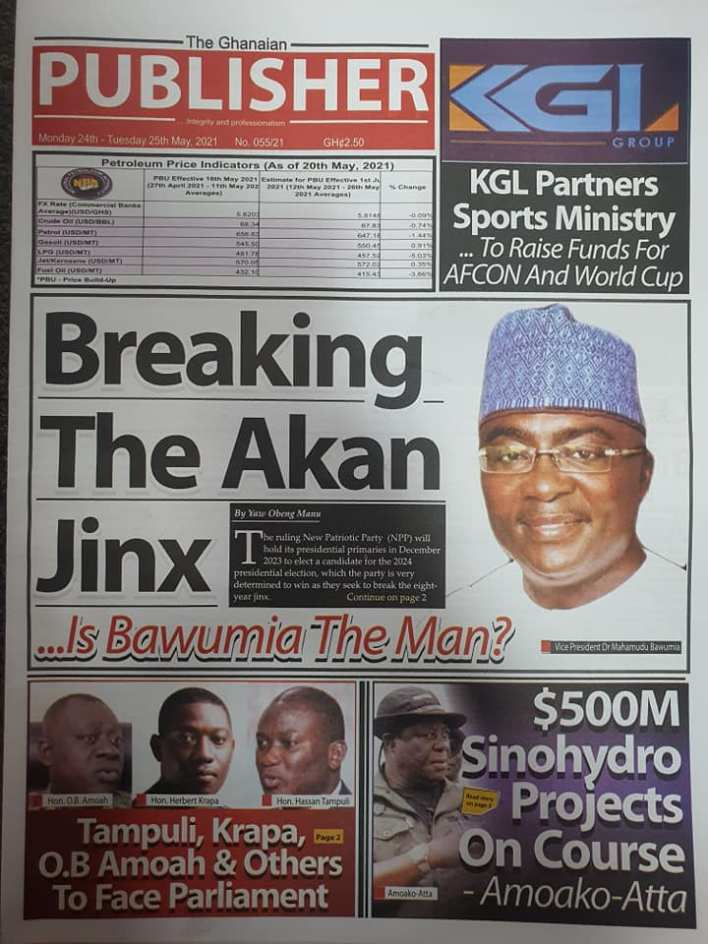 Today's Newspaper headlines: Monday, May 24th ,2021 18