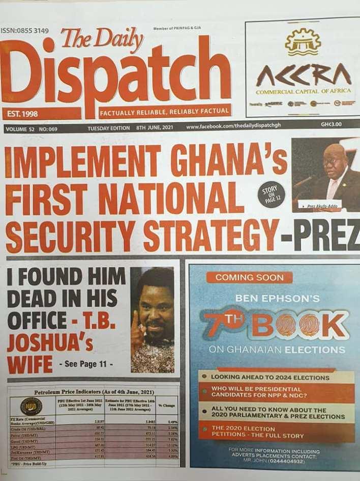 Newspaper Headlines Of Today June 8th 2021 12