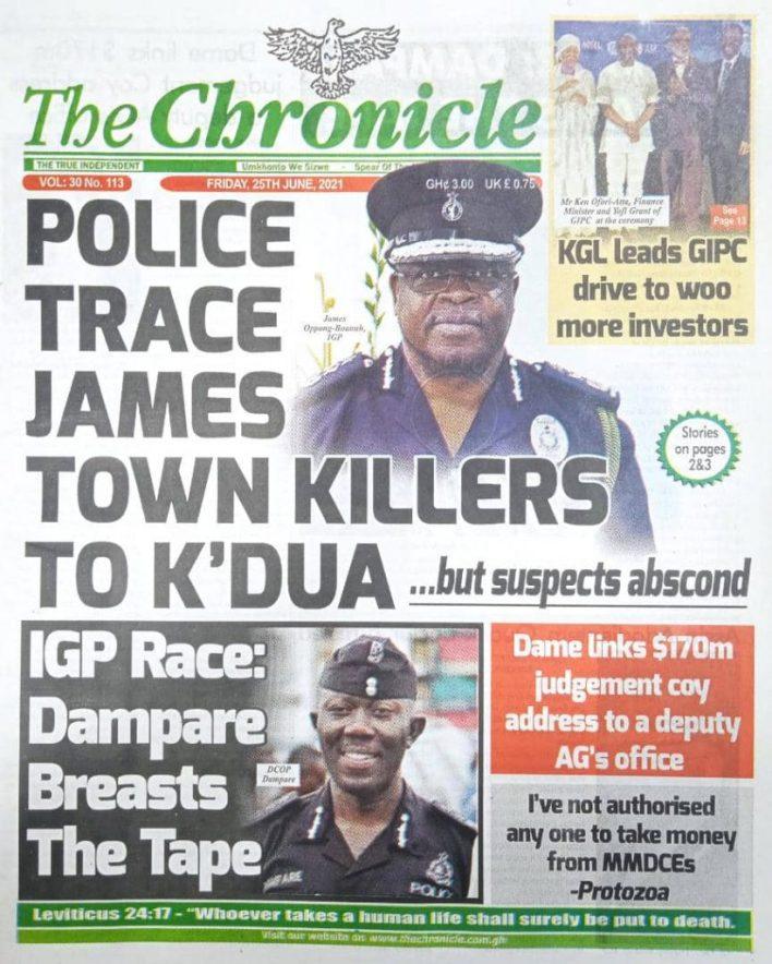 Newspaper headlines of Friday, June 25, 2021 7