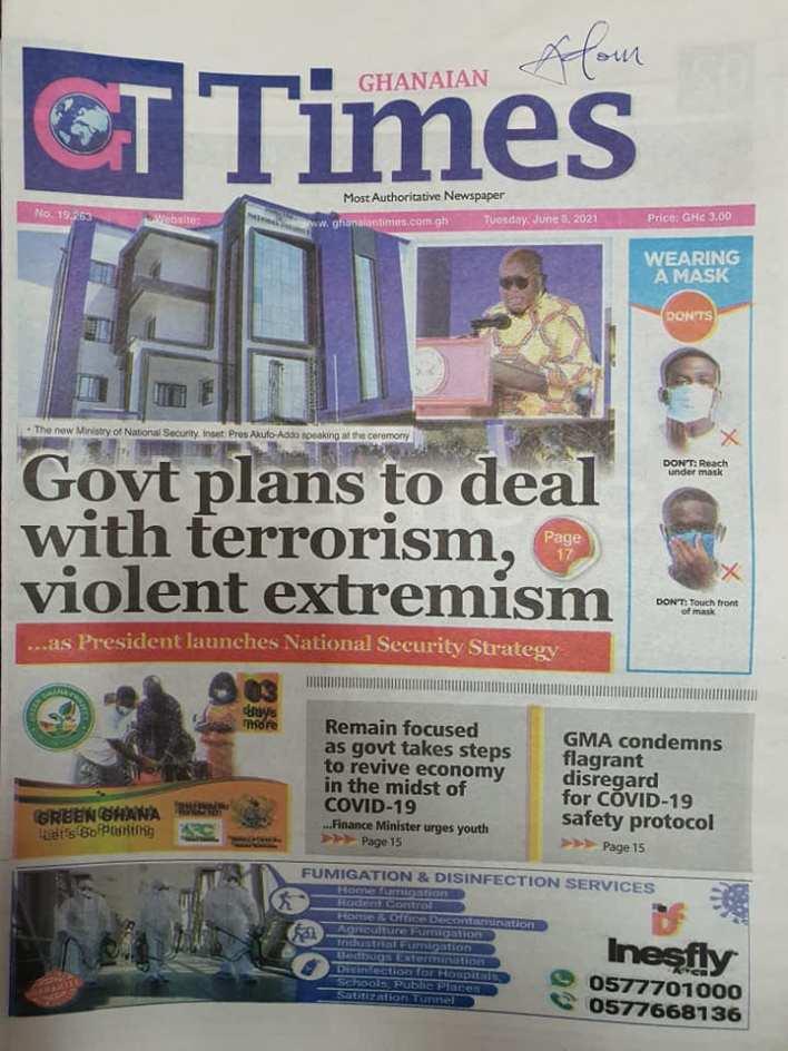 Newspaper Headlines Of Today June 8th 2021 3