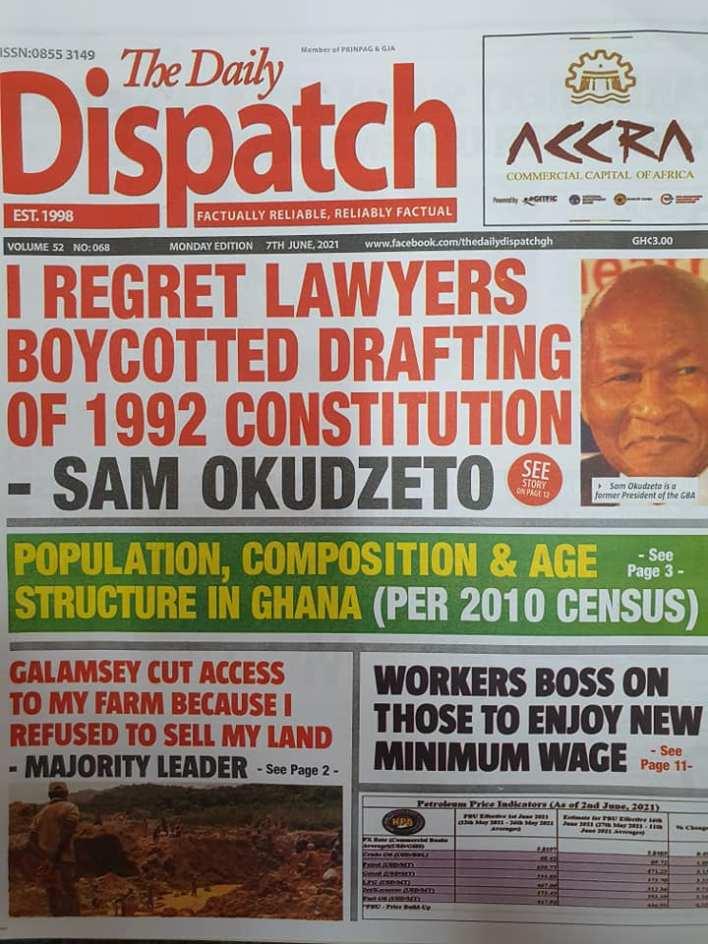 Newspaper headlines of Monday, June 7, 2021 15