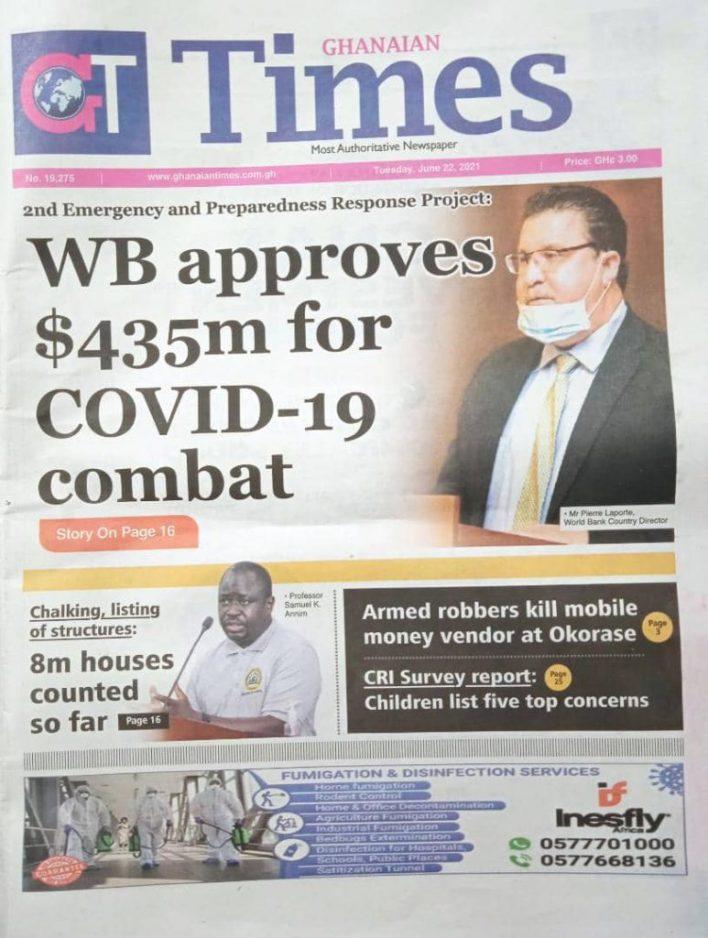 Newspaper headlines of Tuesday, June 22, 2021 6