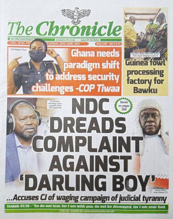 Newspaper headlines of Tuesday, June 22, 2021 1