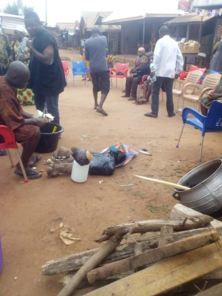 SHS girl's suicide: Sunyani Traditional Council performs rituals to appease gods(Video+pictures) 4