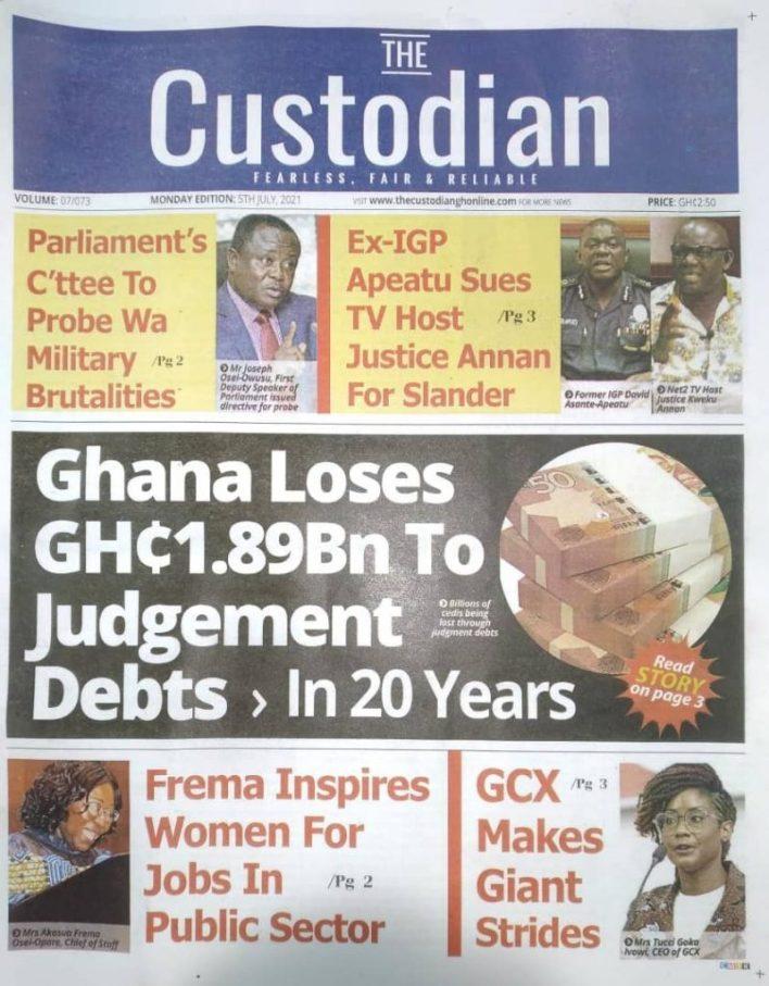 Newspaper Headlines: Monday, July 5, 2021. 101