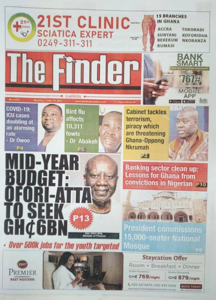 Today's Newspaper Headlines Of Monday July 19, 2021 4