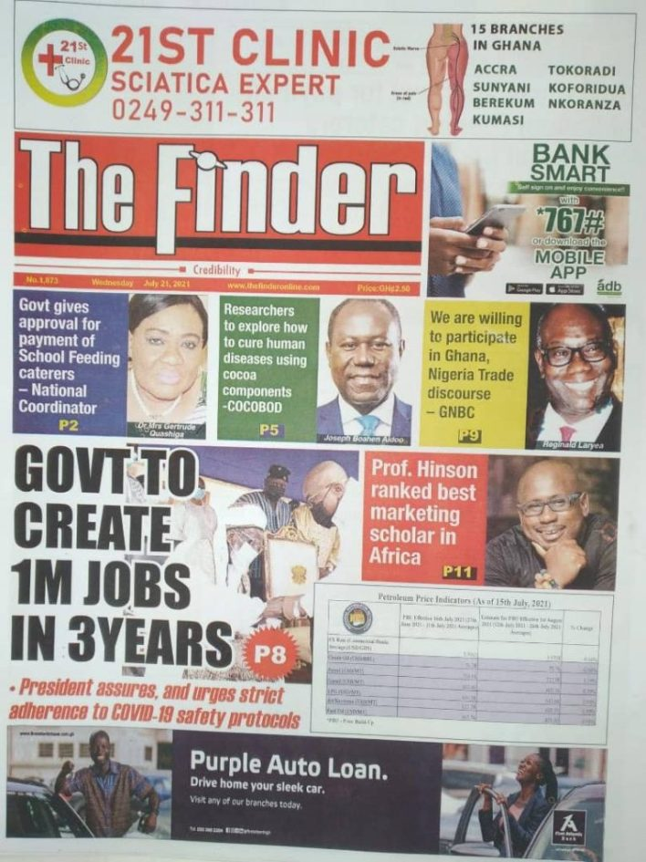 Today's front pages: Wednesday, July 21, 2021 2