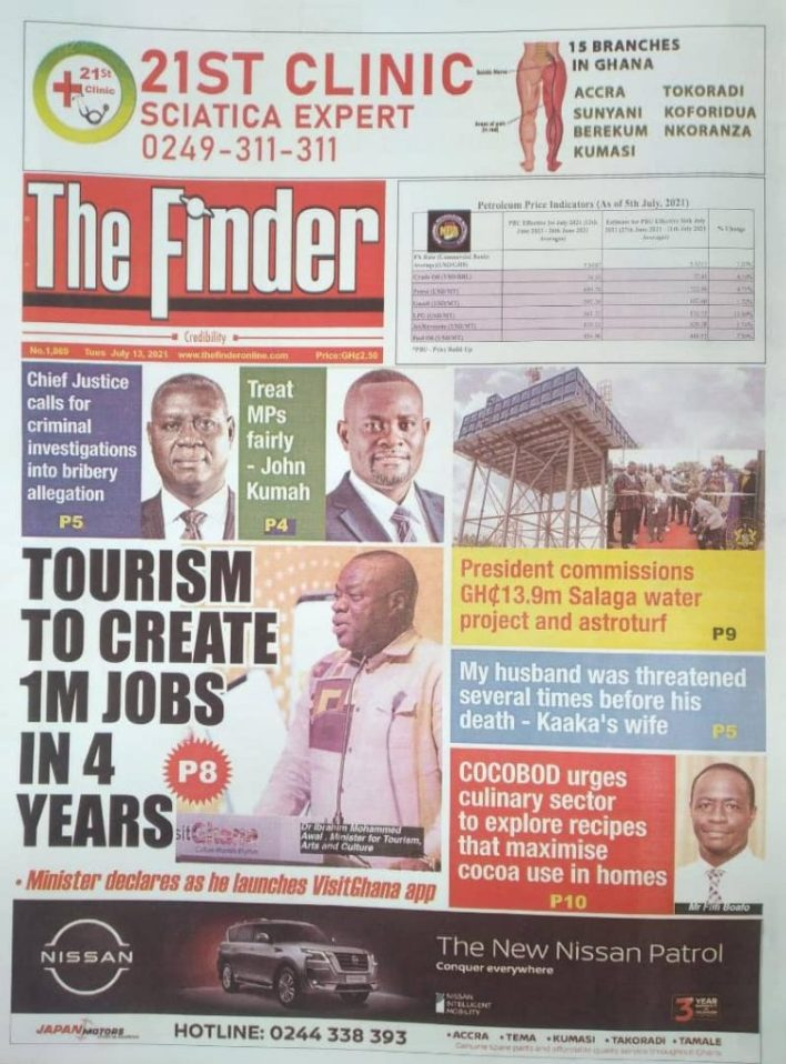 Today's Newspaper Headlines, Tuesday July 13, 2021 2