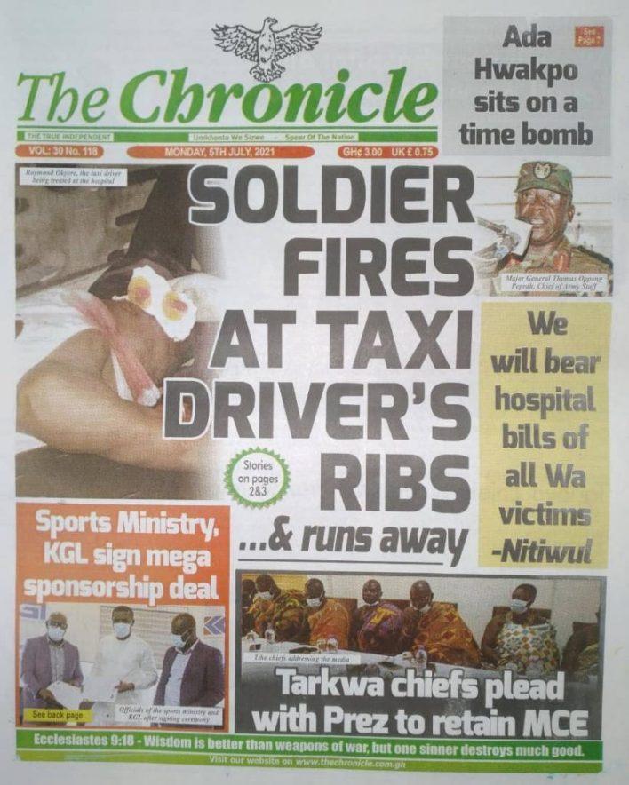 Newspaper Headlines: Monday, July 5, 2021. 105