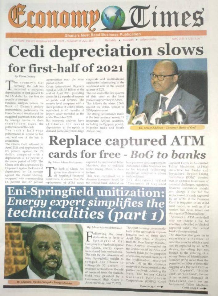 Newspaper Headlines: Monday, July 5, 2021. 97
