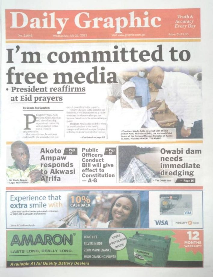 Today's front pages: Wednesday, July 21, 2021 5