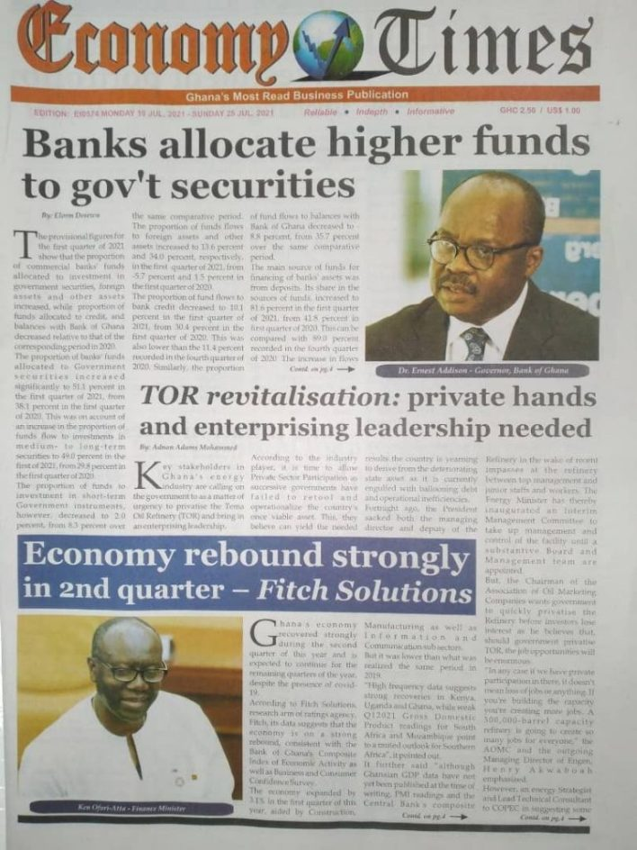 Today's Newspaper Headlines Of Monday July 19, 2021 11