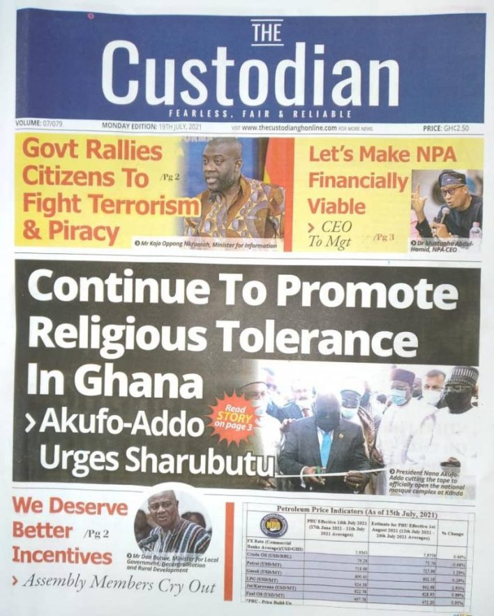 Today's Newspaper Headlines Of Monday July 19, 2021 7