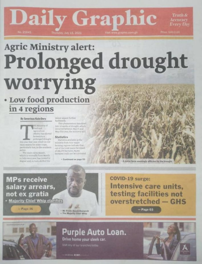 Today's Newspaper Headlines Of Thursday July 15, 2021 7