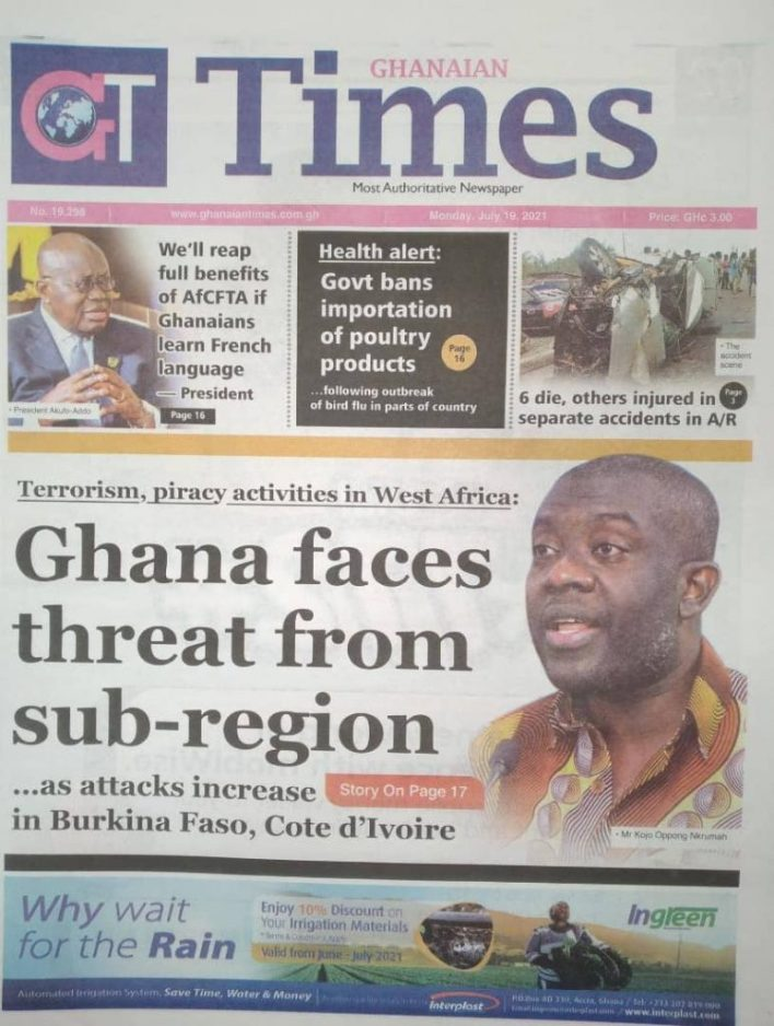 Today's Newspaper Headlines Of Monday July 19, 2021 2