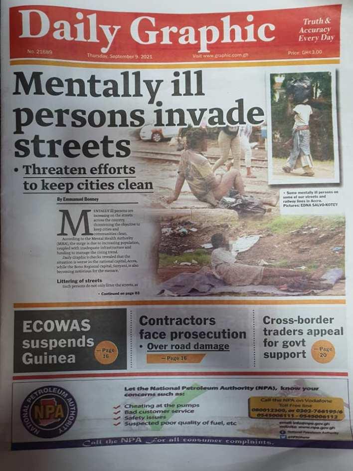 Newspaper Headline Of Thursday, September 9, 2021 6