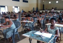 Photo of WASSCE candidate delivers in exams hall, returns to complete paper