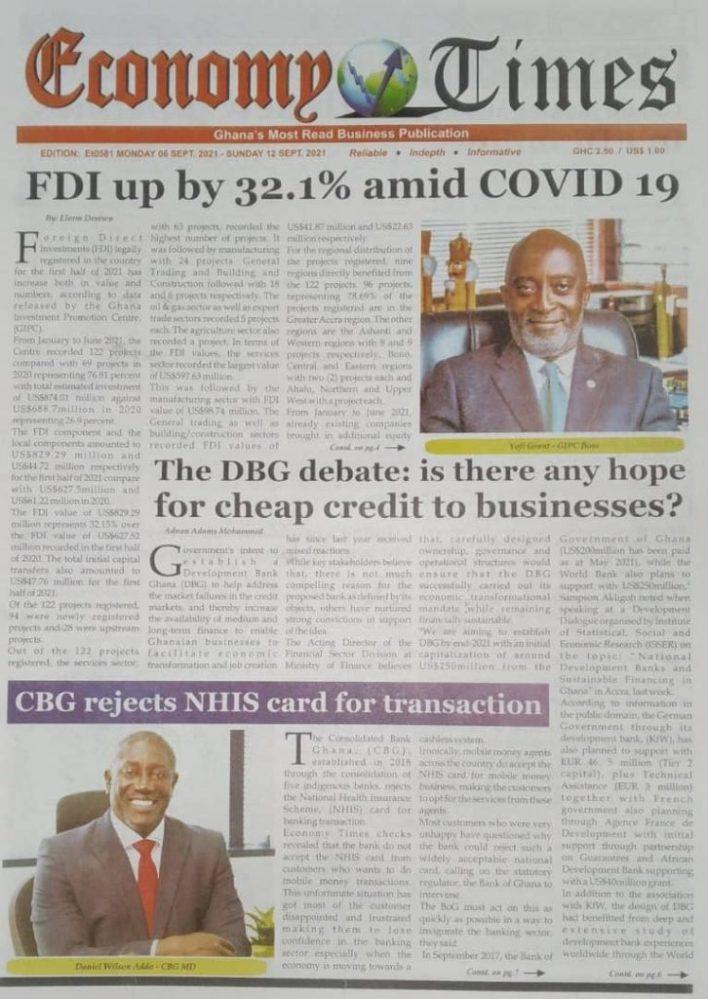 Newspaper Headline Of Tuesday, September 7, 2021 5