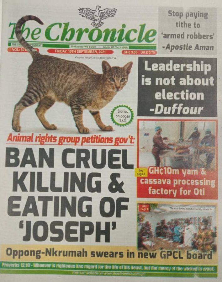 Newspaper Headline Of Friday, September 10, 2021 9