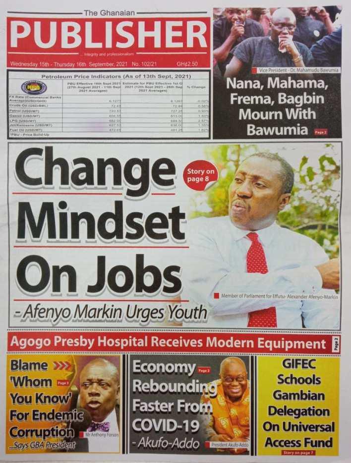 Newspaper Headline Of Wednesday, September 15, 2021 4
